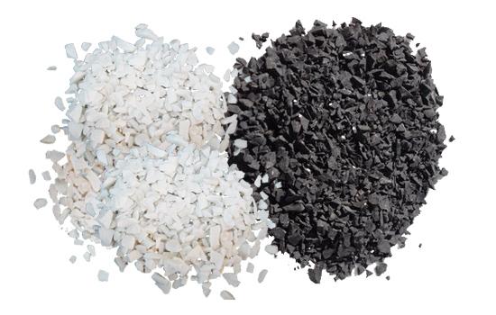 Мозайка бяла и черна и мраморно брашно в торби строителни материали на склад от Едит 5 - Георги Семов